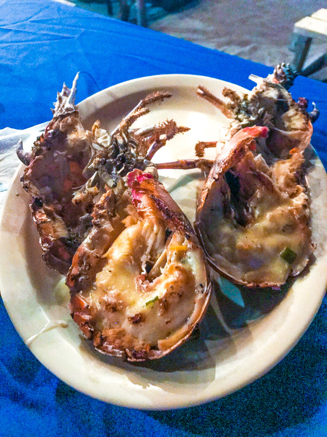 Lobster from Mr. X's Shiggity Shack in St. Kitts, West Indies was amazing! Some of the freshest my lips have ever tasted. Find the full post at www.thebite2night.com