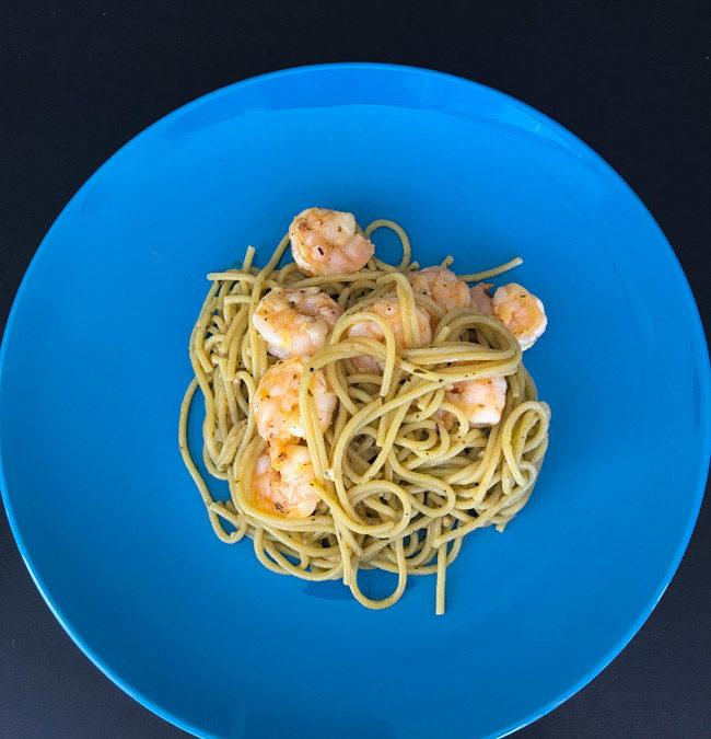 Garlic Lemon Butter Shrimp Pasta
