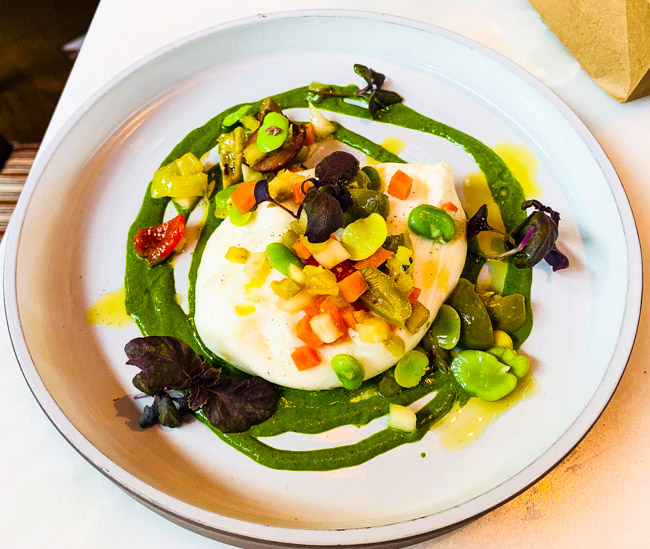 Creamy Burrata from San Morello inside the Shinola Hotel, Downtown Detroit, MI. Visit my blog for the full review at www.thebite2night.com