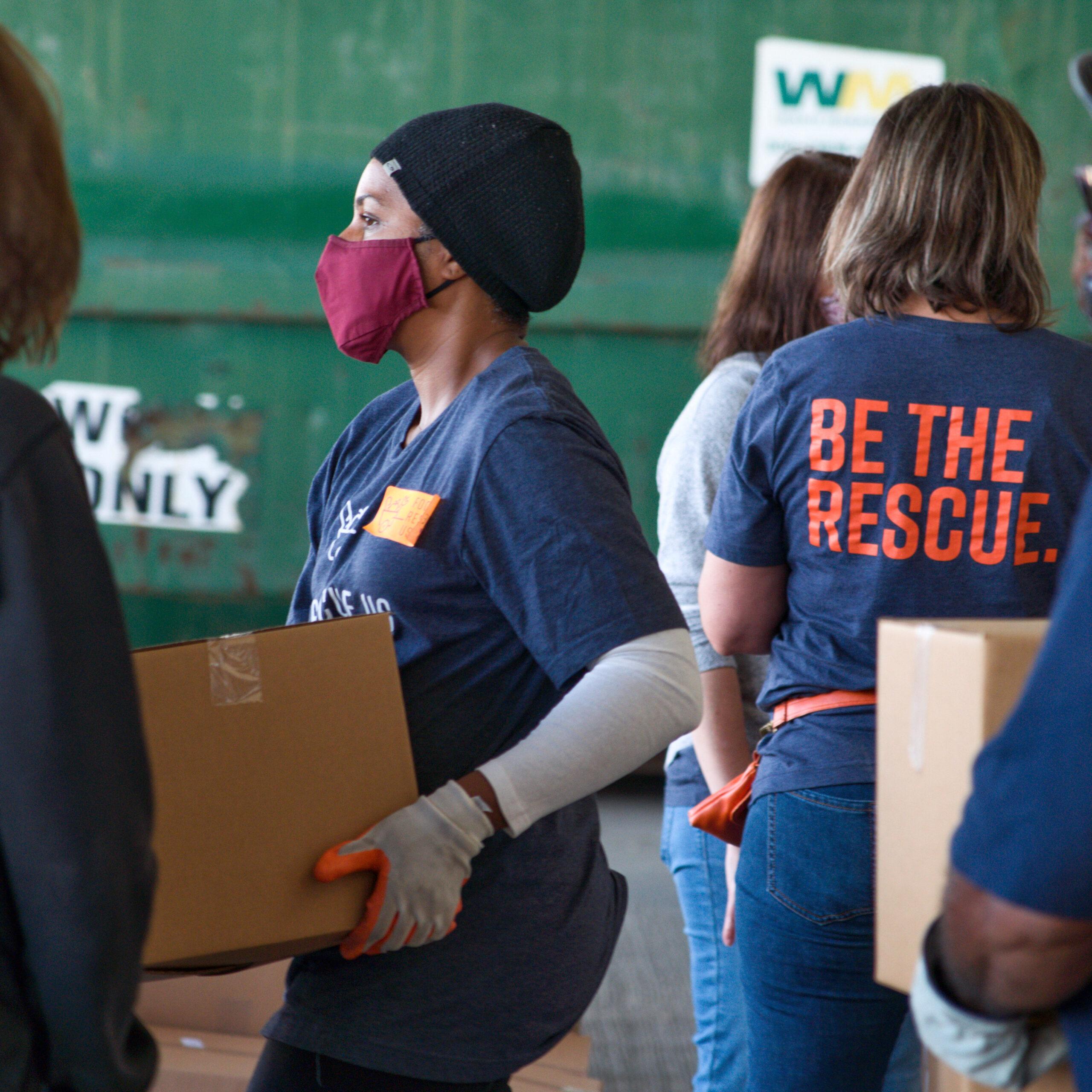 Food Rescue US-Detroit Chapter, TCF Center. Photo Credit: TJ Samuels