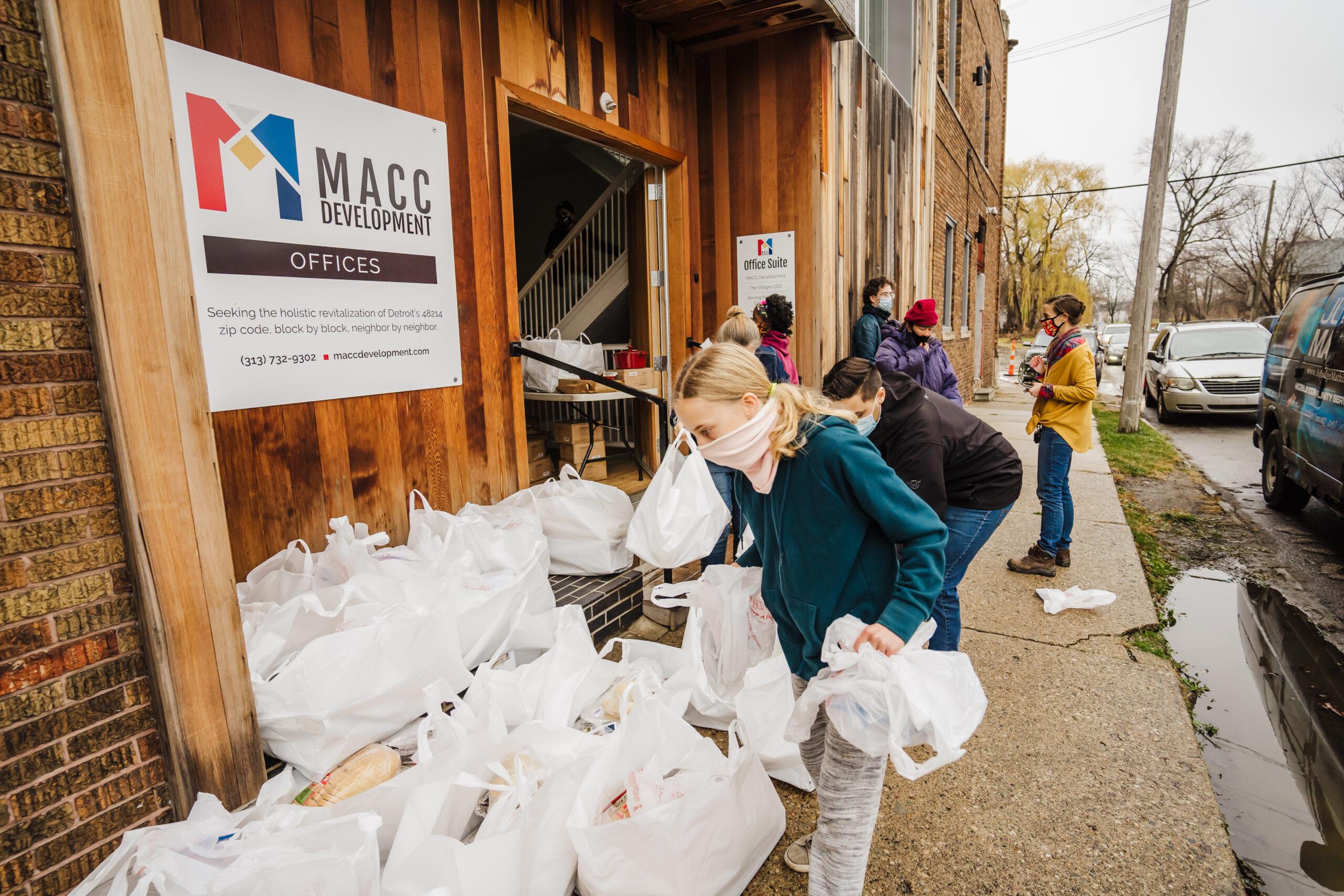 Taste the Diaspora Meal Distribution Site. Photo credit: Valaurian Carter